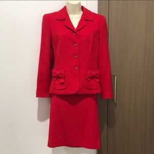 ESCADA wool blend skirt suit